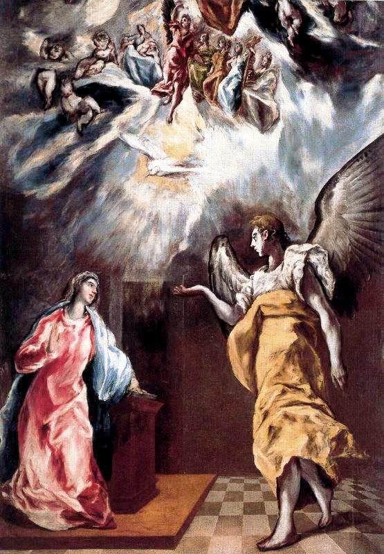 Annunciation by  El Greco ~ 1608