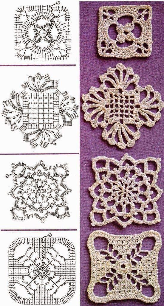 TRICO y CROCHET-madona-mía: Aplicaciones para crochet Ruso o Irlandés con patrones-B-