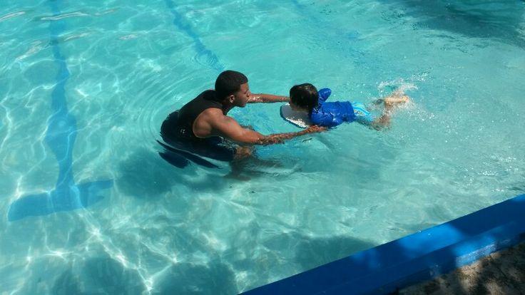 Mi primera clase de natacion