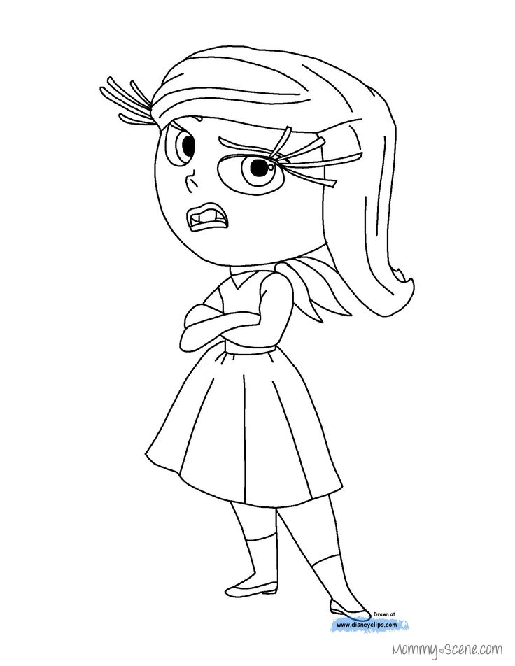 Disney Inside Out Disgust coloring page