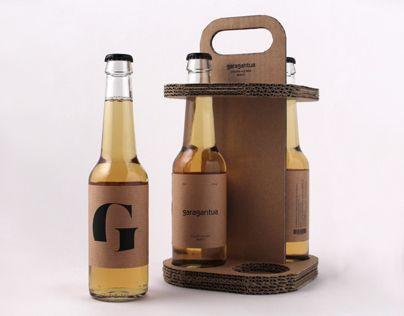 Diseño de etiquetas y envase para una pack de 4 cervezas artesanales de Bilbao.