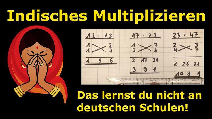 Indisches Multiplizieren – so einfach – so cool – Mathematik, einfach erklärt – Lehrerschmidt – Laura Selzner