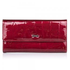 Czerwony, lakierowany portfel damski http://supergalanteria.pl/ona-produkty-dla-kobiet/portfele-damskie/portfel-damski-ze-skory-lakierowanej-74507-cb  #loren #redwallet #ladywallet #glamour #portfeledamskie #portfeldamski