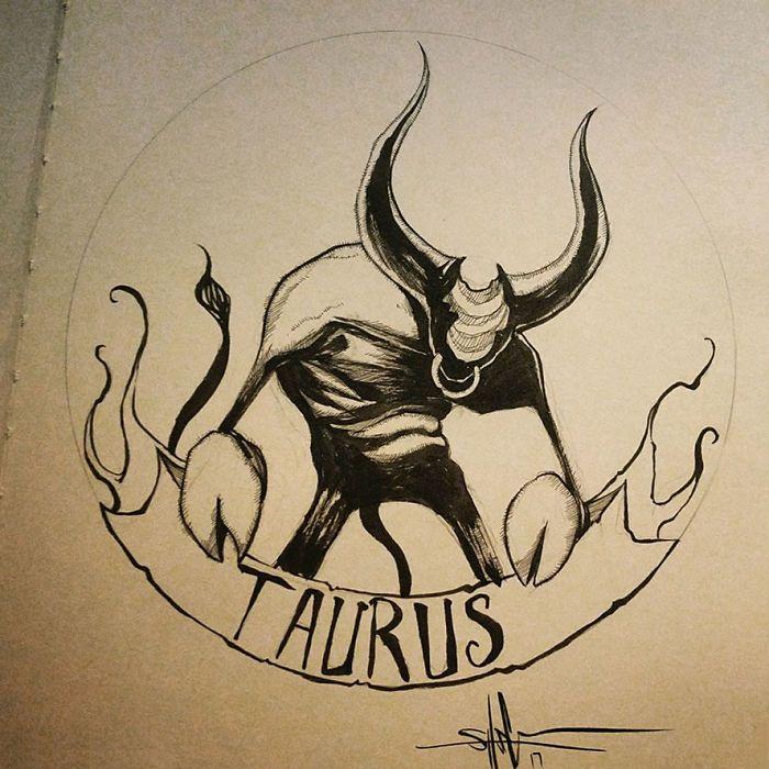 Artista cria ilustrações assustadoras dos signos do zodíaco - Bons Tutoriais