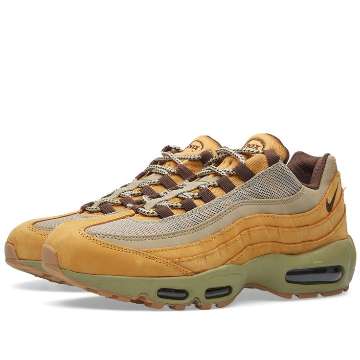 After the success of last years 'Wheat Pack' collection, Nike return to the their tonal game throughout this season. Utilising suede on the upper construction, the Air Max 95 features details of brown and beige accents to the iconic layers, finished with a full length Air Sole unit and swoosh to rear quarter.  Suede Uppers Mesh Panels Tonal Gradient Design Visible Full Foot Air Unit Branding to Tongue Style Code: 538416-700