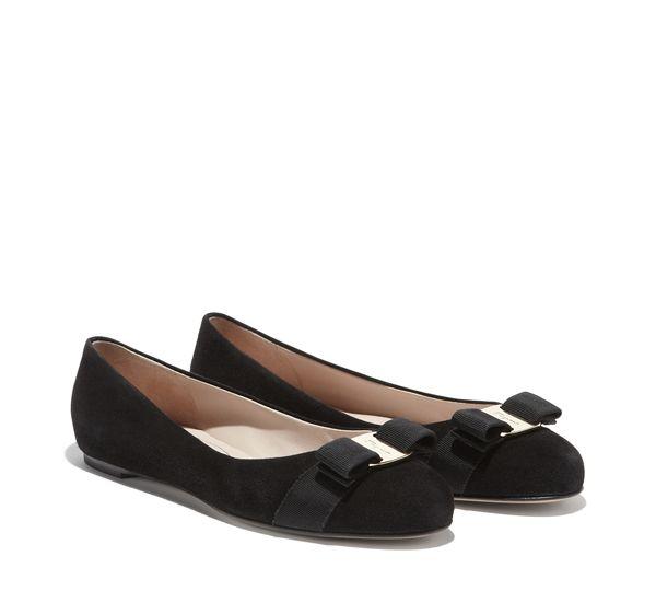 #SalvadoreFerragamo #Shoes - Varina in black suede - $450USD