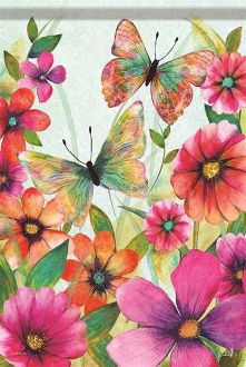 Butterfly Meadow Garden Flag FlagTrends CLASSIC FLAGS by Carson