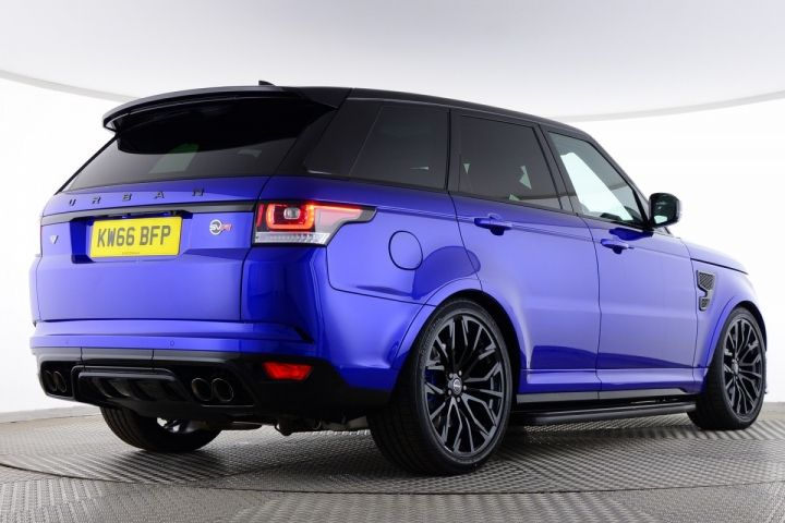 Used Land Rover Range Rover Sport SUPERCHARGED V8 URBAN SVR Blue for sale Essex KW66BFP | Saxton 4x4