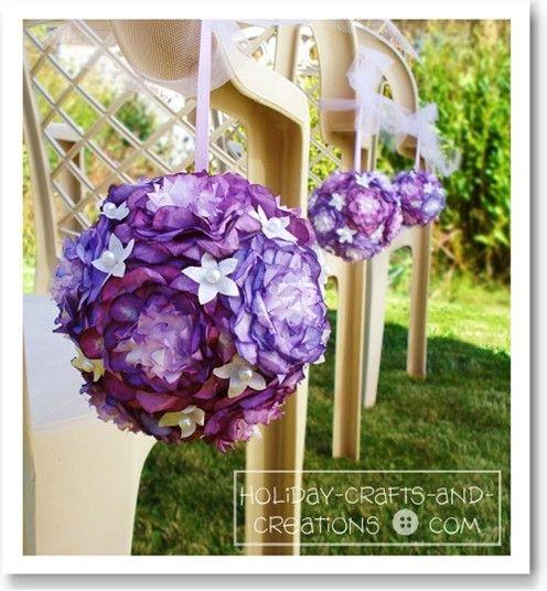 Wedding Pomander Balls: Peony Design