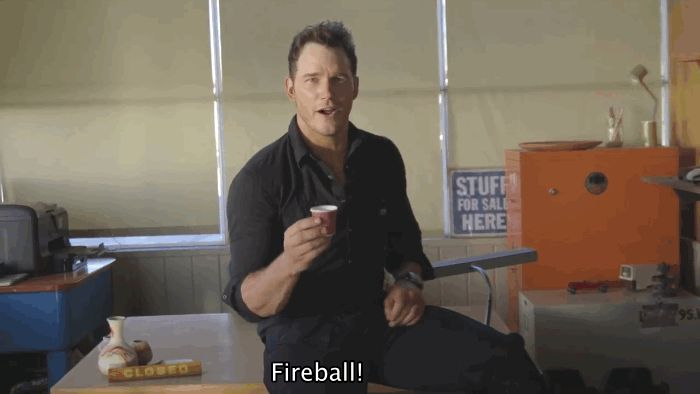 After downing a few Fireball shots, Pratt revealed his top tips for how to act your way out of a terrifying or awkward situation. | Chris Pratt Tries To Give Acting Lessons While Drunk And It's Beautiful