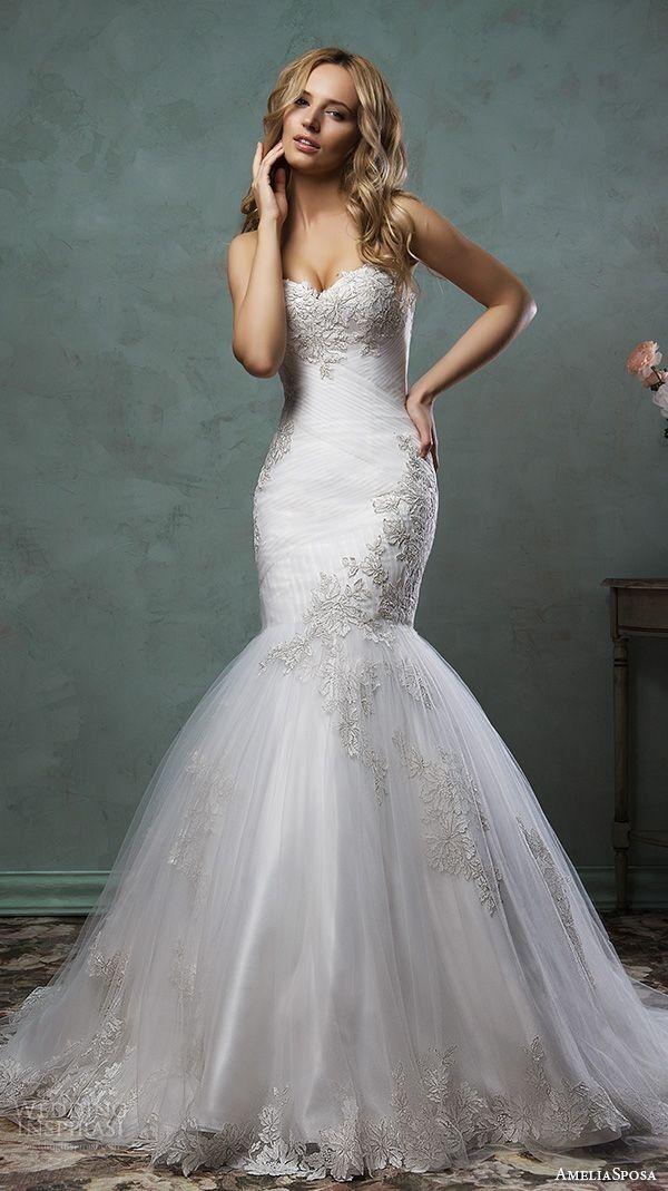 Best Hairstyle For V Neck Wedding Dress : 5387 best wedding dress inspiration images on pinterest