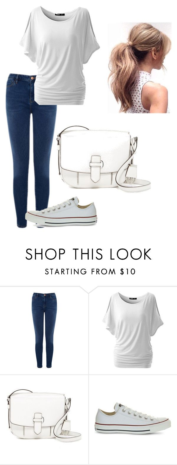 """Random Outfit (Again)"" by a-b-w on Polyvore featuring Warehouse, MICHAEL Michael Kors and Converse"