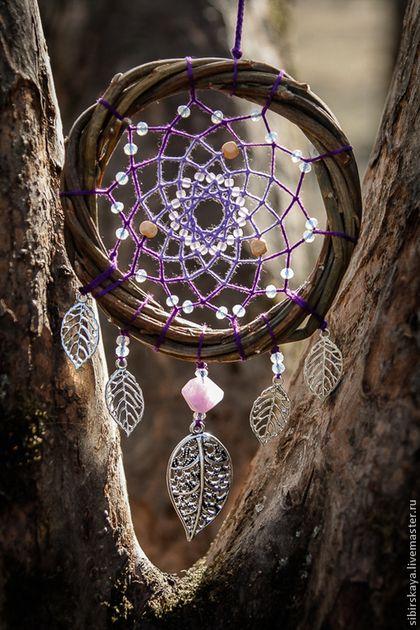 """Ловцы снов ручной работы. Ловец снов """"Fairy purple"""". Юлия Сибирская. Ярмарка Мастеров. Ловец, ловец снов с кварцем"""