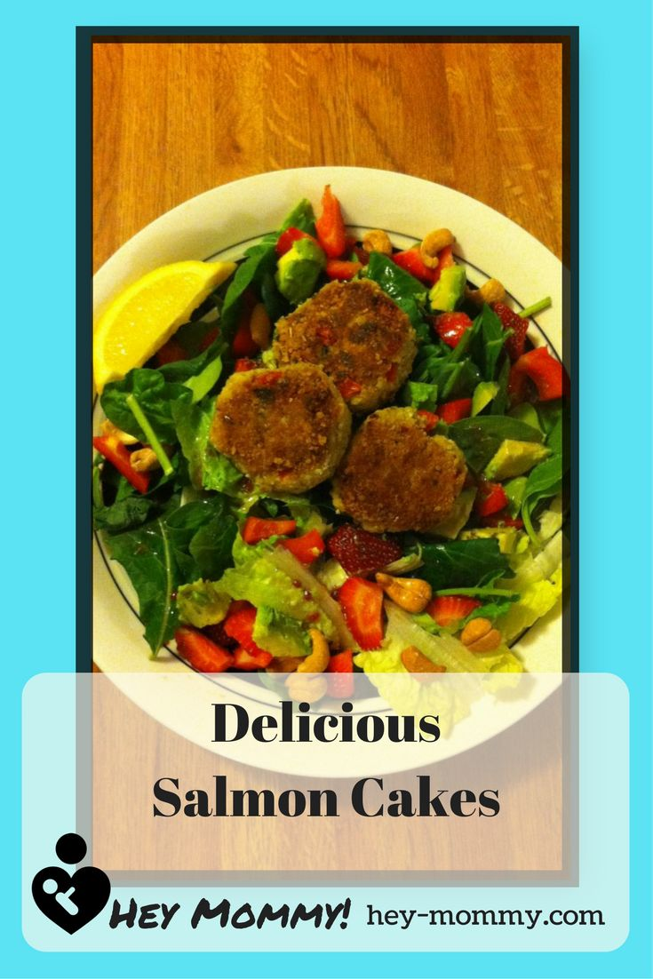 Simply delicious Salmon Cakes can top any salad. Change it up every time!