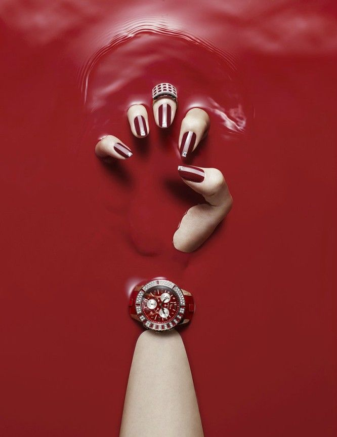 RED  Creepy and provocative at the same time or... it is a watch ad :) lol