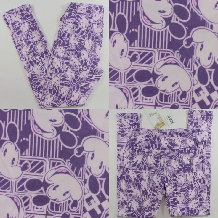 LuLaRoe Disney Collection MICKEY MOUSE Leggings One Size  #LuLaRoe