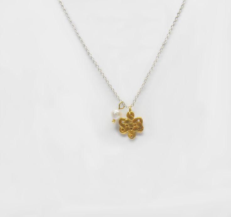 Fio Roseta em Prata com Banho de Ouro +info: joias.she@gmail.com