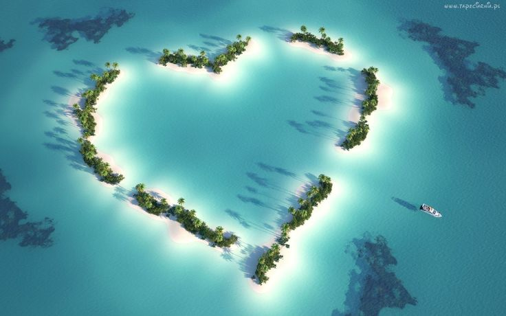 Archipelag, Wysp, Serce, Palmy