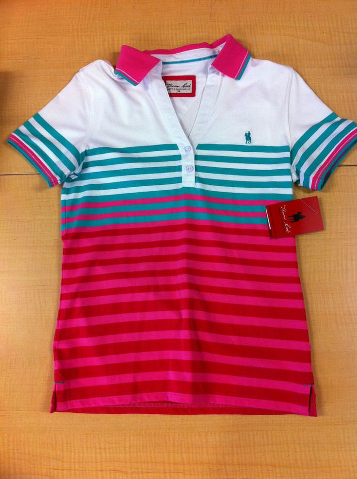 Womens NWT Thomas Cook Jessie Stripe Polo Sizes 8