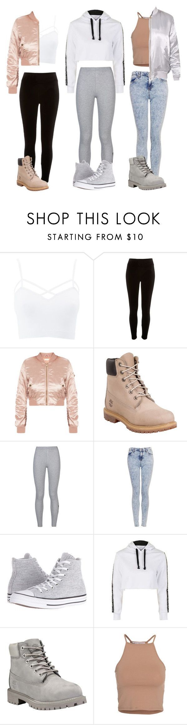 """""""3 """"baddie"""" outfits"""" by lily-rose-marie-alexandrr on Polyvore featuring Charlotte Russe, River Island, Timberland, NIKE, Topshop, Converse, NLY Trend and plus size clothing"""