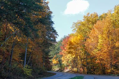 A perfect drive from I-40 to The Old Mill through the Great Smoky Mountains National Park.  3 of 8 road trip photos.