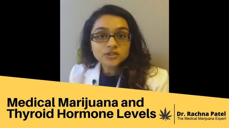 Medical Marijuana and Thyroid Hormone Levels. Does medical marijuana affect thyroid hormone levels? In a study done in Germany published in 2012, researchers measured both thyroid hormone levels (TSH, total T3, and free T4) and THC (tetrahydrocannabinol) levels in 39 patients that had been using about 2.5 grams of marijuana daily over about one and half years.