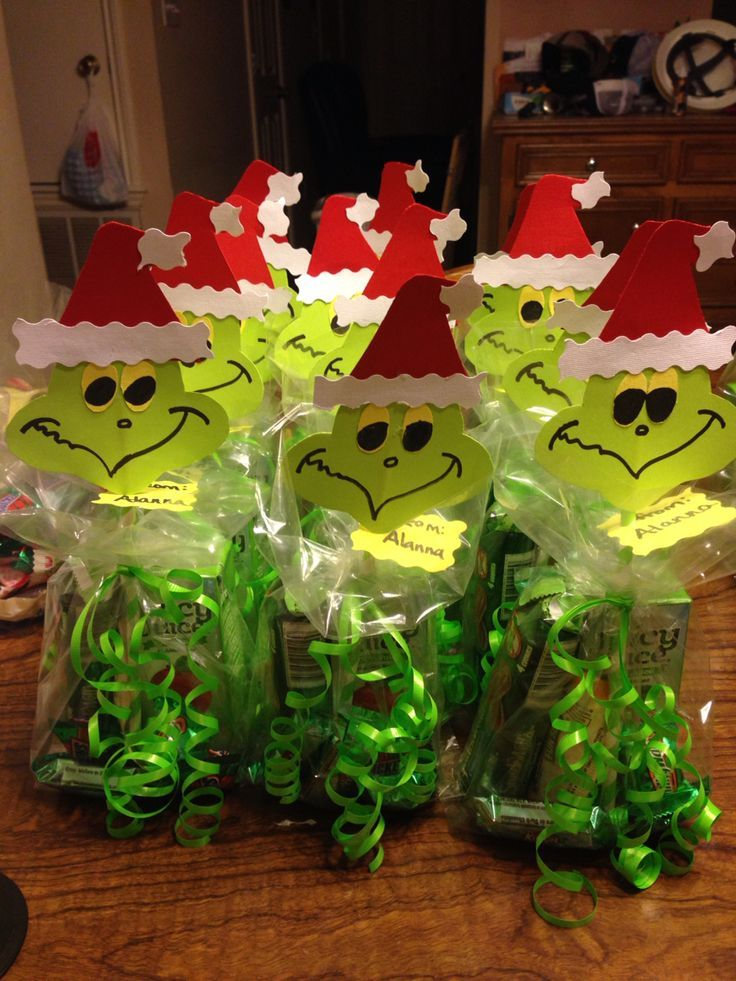 11 Best Helpful Hints Images On Pinterest Birthday Party Christmas Goodie Bags Grinch Christmas Party Christmas Treat Bags