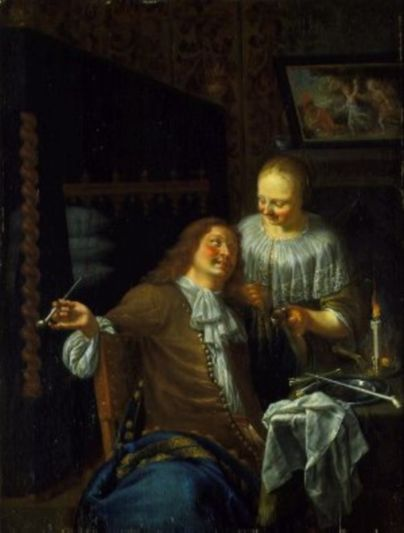Ян Мирис, Jan van Mieris (1660 — 1690) — Дама и кавалер (1680, Wallace Collection, London)