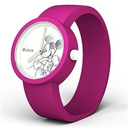 O clock watch - Disney - Mickey face with Violet (Fuchsia) strap