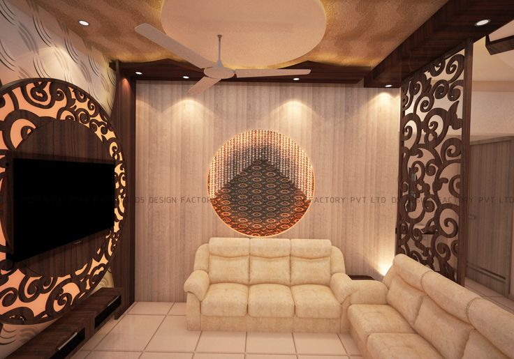 The whole apartment has customized false ceiling designed with the 'Mughalai' theme in mind. The end result is a stunning abode that matches the dreams of a contended family.