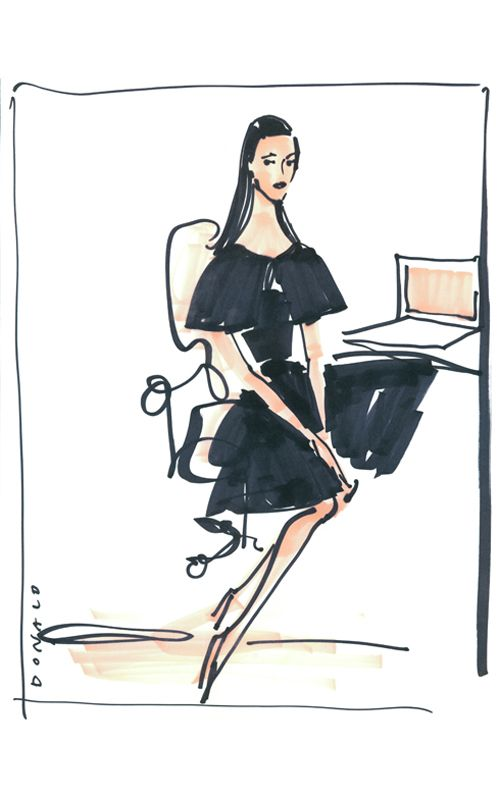 Kathleen By Donald Robertson Fashion Illustration