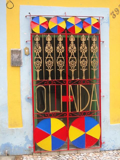 Los colores de nuestra bandera en Olinda,  Brazil