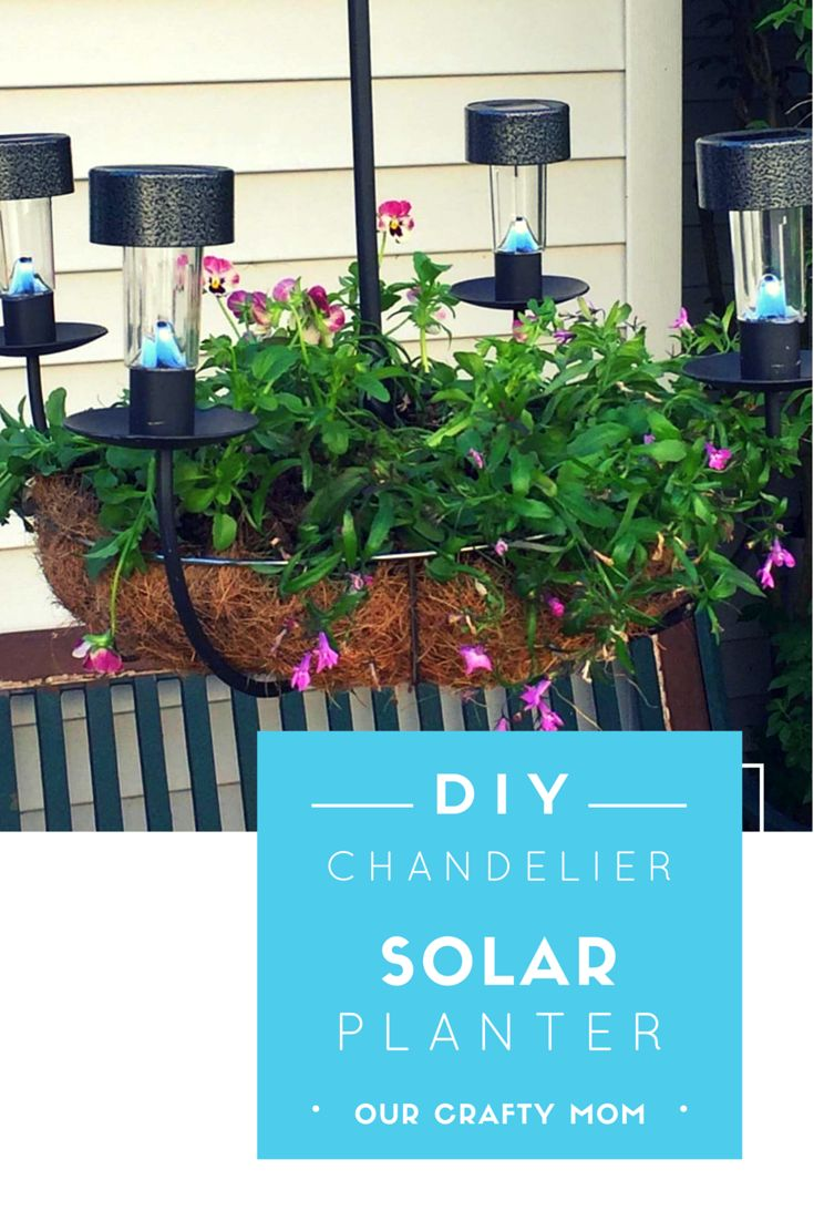 DIY Chandelier Planter Upcycle Challenge - Our Crafty Mom