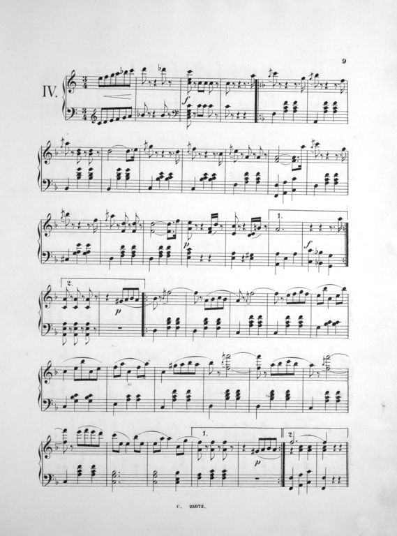 Eduard Strauss, Score, Waltz
