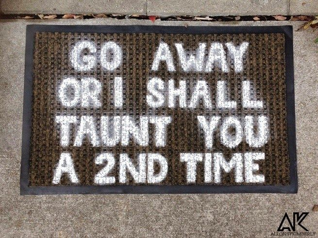 DIY: Monty Python and the Holy Grail Doormat