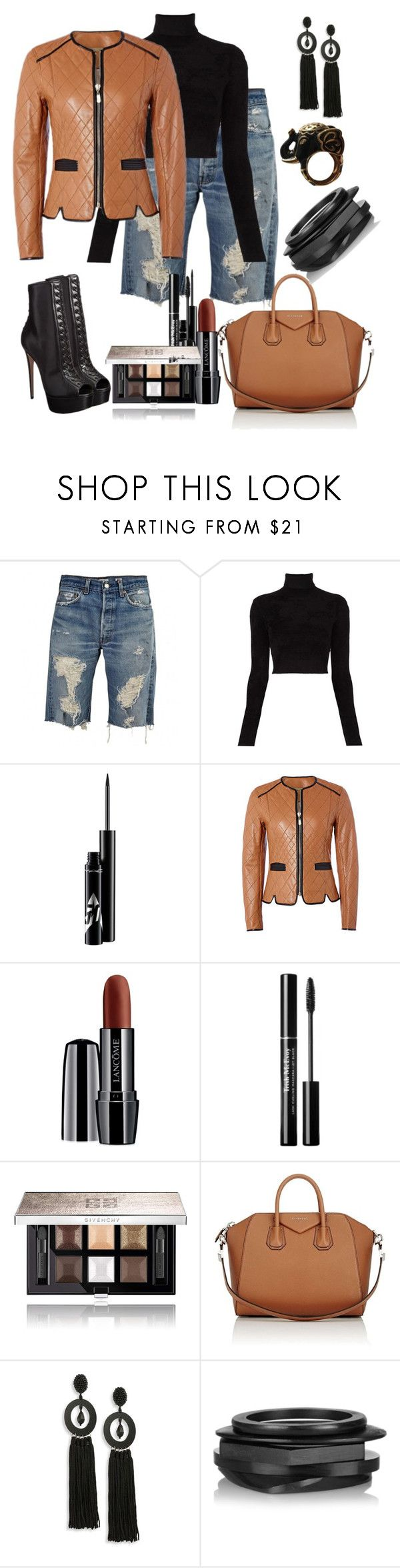 """""""Untitled #489"""" by fasttrack2fashion ❤ liked on Polyvore featuring A.L.C., Ruthie Davis, Richards Radcliffe, Lancôme, Givenchy, Oscar de la Renta, Kenneth Jay Lane and Paul & Joe"""