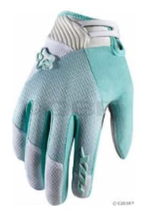 Fox Racing Women's Reflex Gel Full Finger Glove: Diva Light Green~ LG