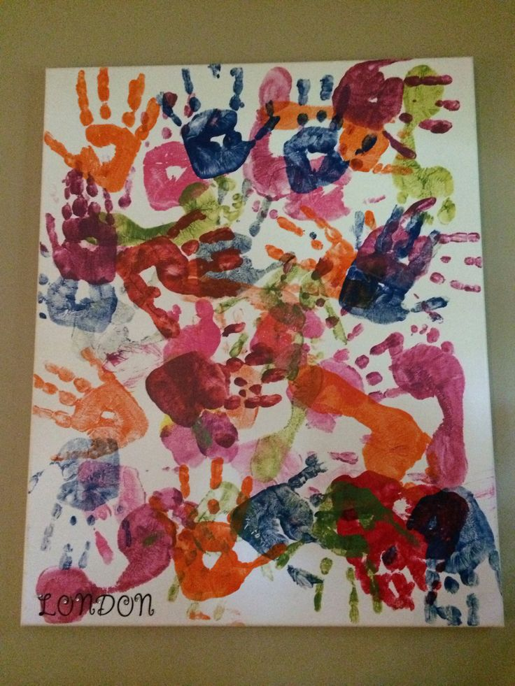 frame worthy abstract canvas toddler finger painting used bargain canvases from hobby lobby 800