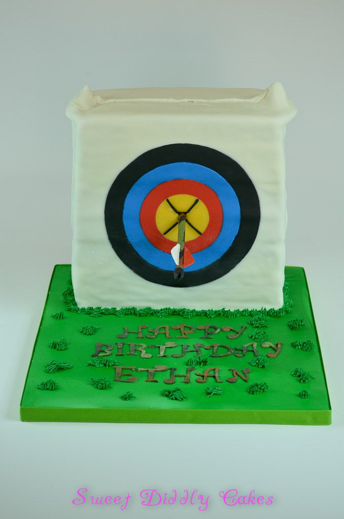 Archery Bag Target Cake Made To