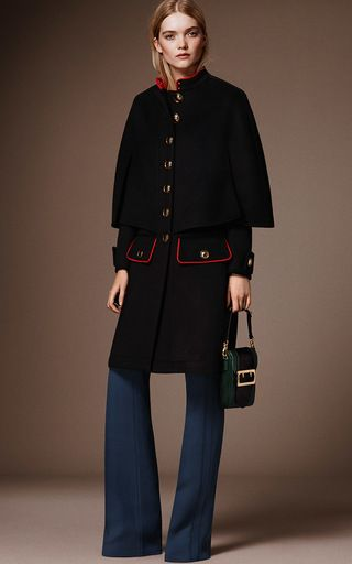 Cashmere Military Cape Coat by BURBERRY for Preorder on Moda Operandi- Material: 50% cashmere, 50% virgin wool