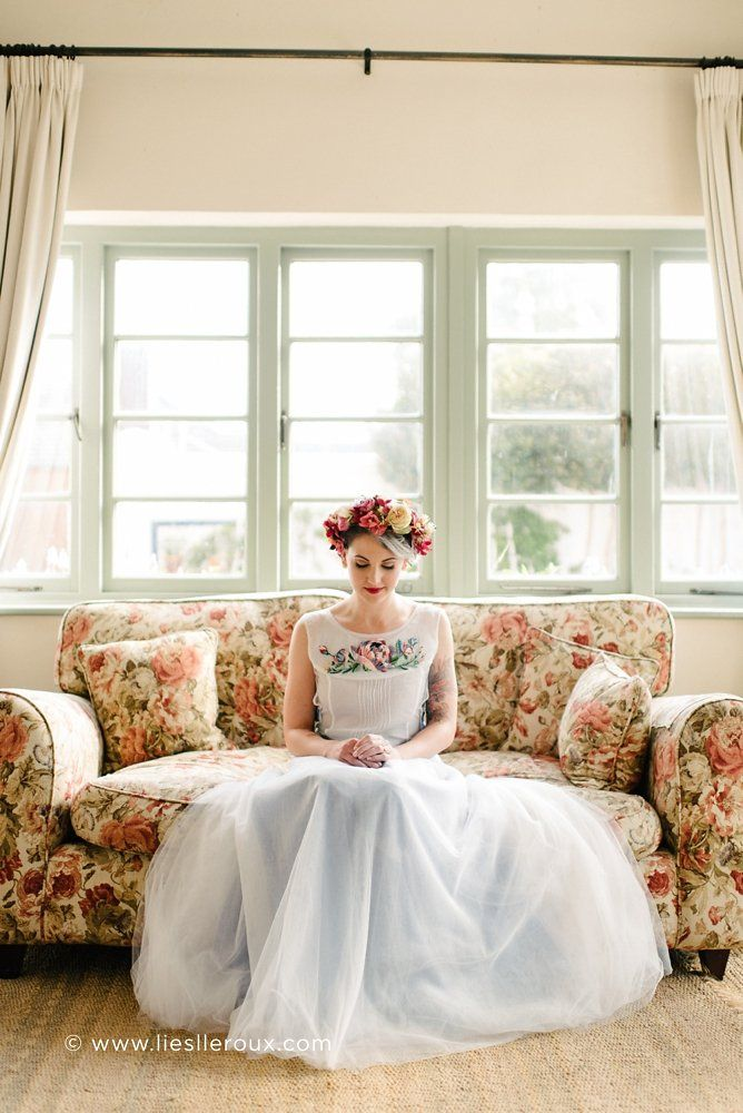 Flower Crown by Holloway Floral Design photo by Liesl Le Roux Photography