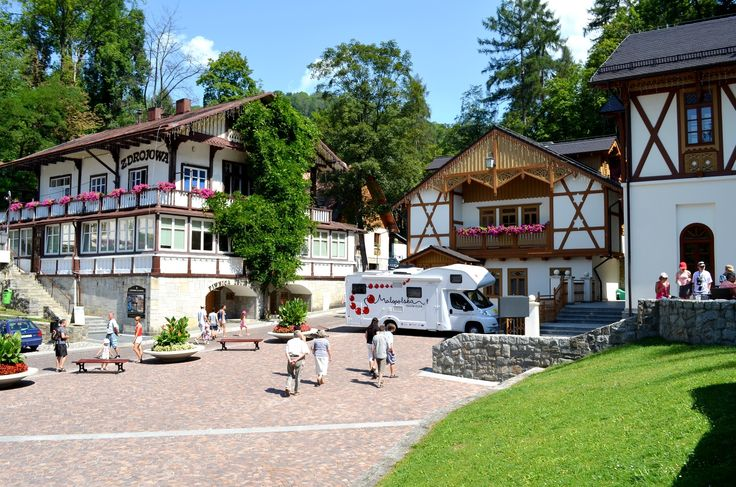 Szczawnica – a resort town in southern Poland, at Grajcarek bourn.