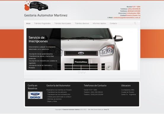 Diseño web para Gestoria Automotor Martinez de la ciudad de Rosario