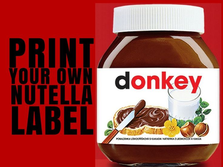 Print Your Own Nutella Label