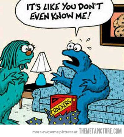 Lol when you buy the wrong gift   Cookie Monster