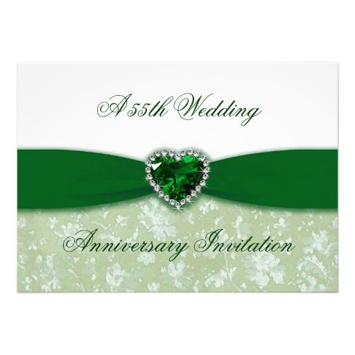 Damask Th Wedding Anniversary Invitation