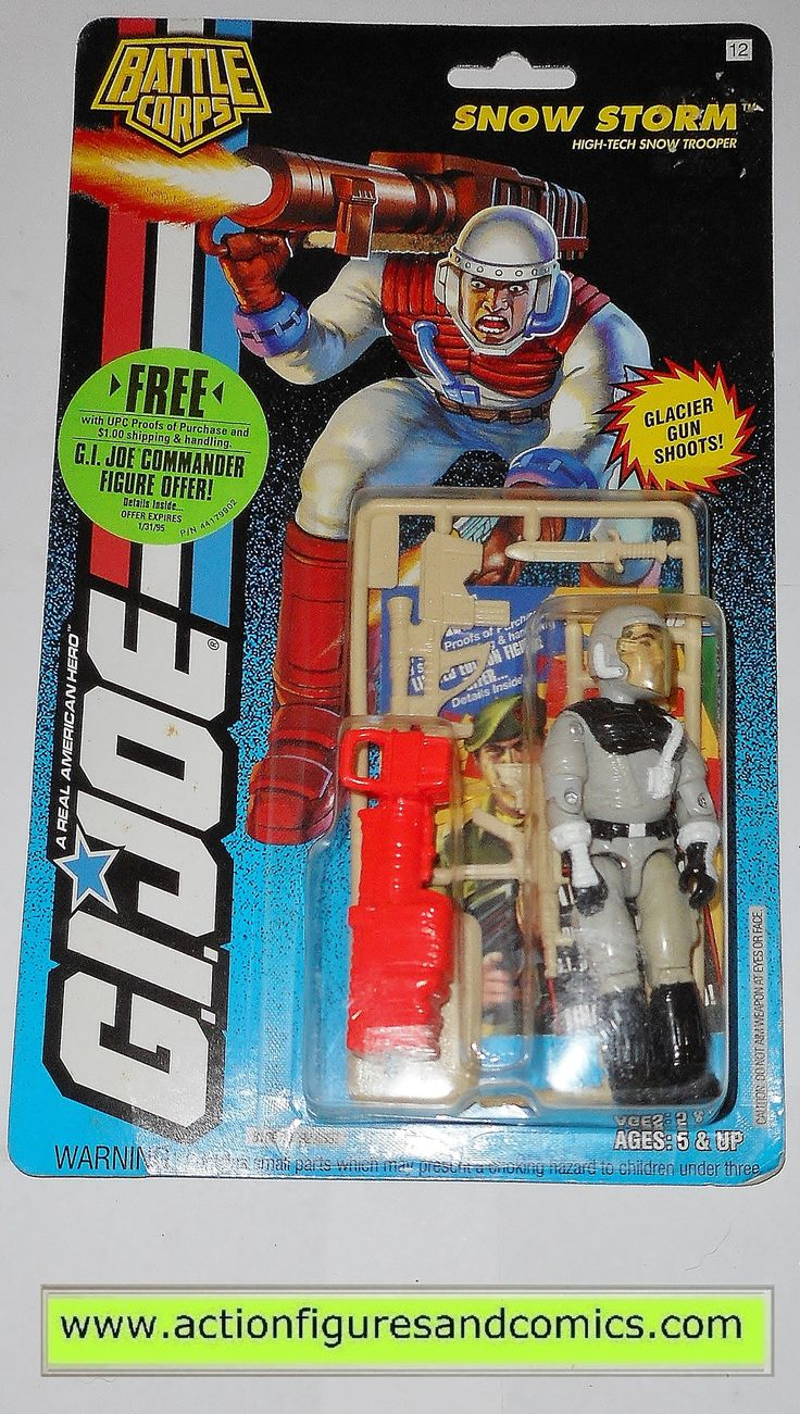 Hasbro Toys for sale to buy G I JOE vintage action figures 1994 SNOW STORM  battle corps