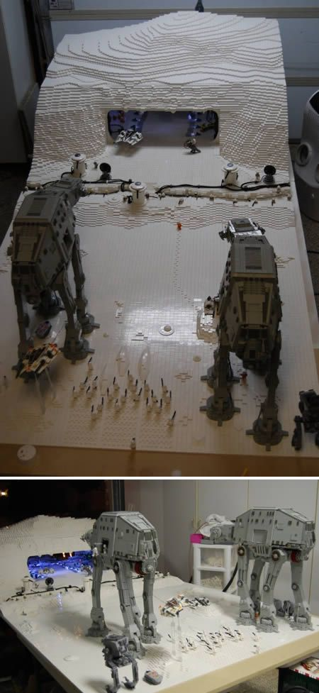 The Empire Strikes Back |  12 Coolest Movie Recreations in LEGO (Lego Movie, Lego Movies) - ODDEE #lego