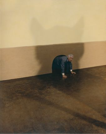 Untitled (Cat troubles), 2006, Oil on toned gelatin silver print 166 x 133 cm