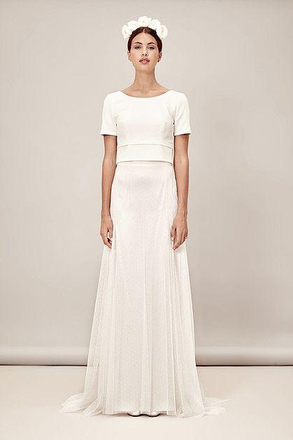 Elegant & Simple wedding dress bridal separates Elisa & Noor by ...